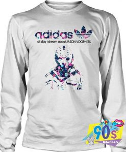 Adidas all day I dream about Jason Voorhees Sweatshirt