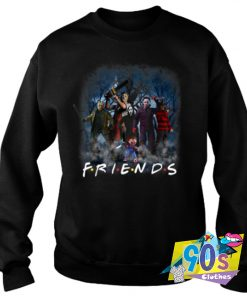 All Horror Movie Character Is Friends Halloween Sweatshirt