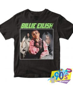 Billie Eilish 90s Rapper T Shirt