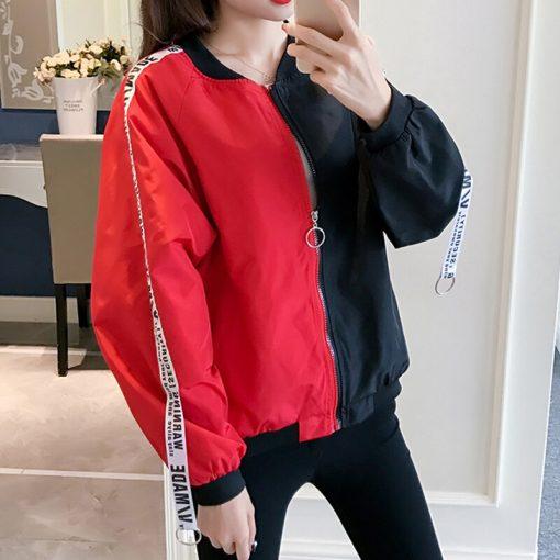New Women's Basic Jacket Fashion Thin Girl Windbreaker Outwear Bomber Jacket 4