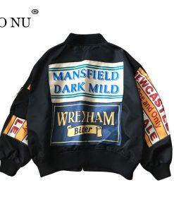 Spring Jacket Coat Patch Designs Harajuku Loose Bomber Streetwear Jacket