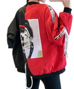 New Women's Basic Jacket Fashion Thin Girl Windbreaker Outwear Bomber Jacket 3