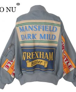 Spring Jacket Coat Patch Designs Harajuku Loose Bomber Streetwear Jacket 1