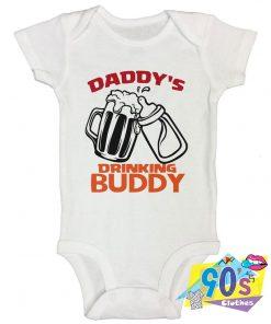 Daddys Drinking Buddy 2 Baby Onesie