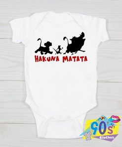 Hakuna Matata Lion King Baby Onesie