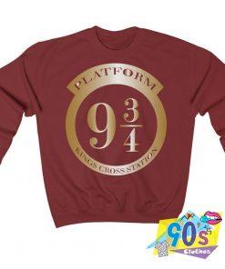 Harry Potter Platform 9 3 4 Kings Cross Station Sweatshirt