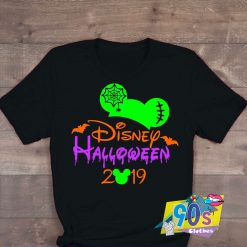 Bats And Spiders Mickey Mouse Halloween T shirt