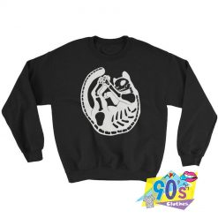 Black Cat Skeleton Kitty Bones Sweatshirt