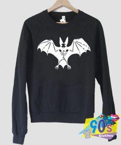 Funny Halloween Bat Skeleton Sweatshirt