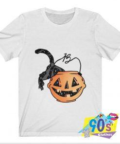 Funnyn Pumpkin With Cat T shirt