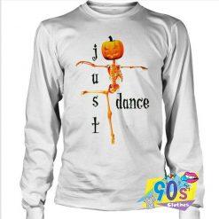 Just Dance Halloween Skeleton Pumpkin Sweatshirt