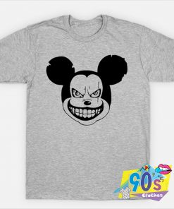 Mickey Mouse Halloween Horror Face T Shirt
