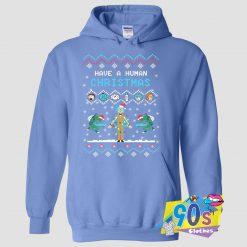 Rick And Morty Have A Human Ugly Christmas Hoodie
