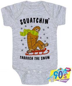 Squatchin Through The Snow Baby Onesie