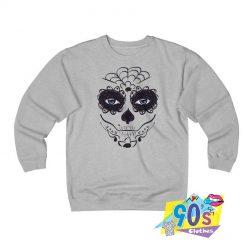 Sugar Flower Halloween Skull Sweatshirt