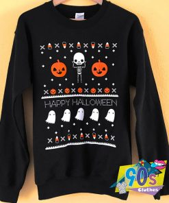 Ugly Halloween Skeleton Sweatshirt