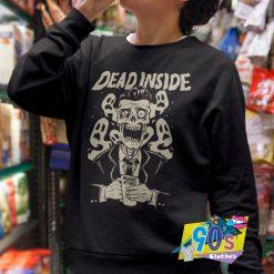 dead Inside Goth Grunge Skull Skeleton Sweatshirt