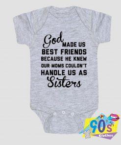 God Made Us Best Friends Baby Onesie