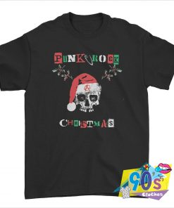 Punk Rock Skull Santa Christmas T shirt