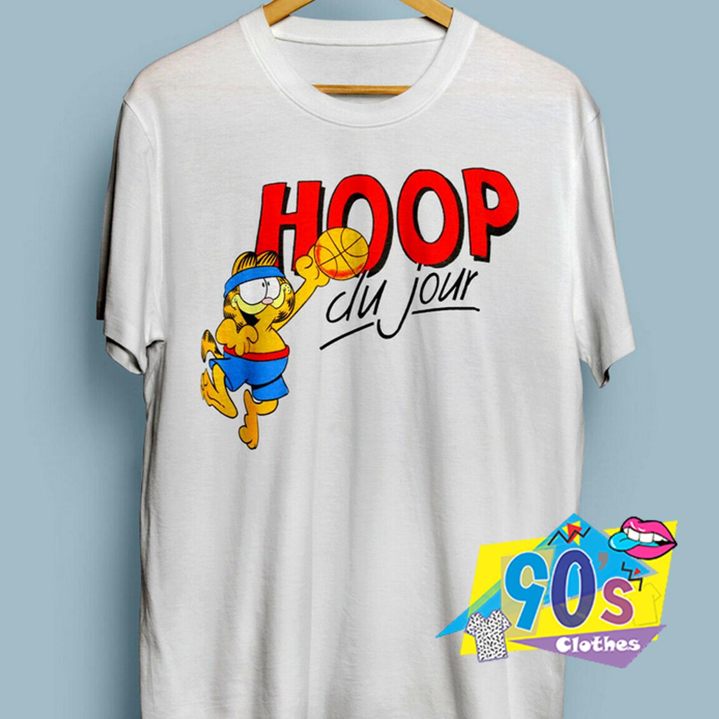 Vintage Garfield Hoop Du Jour 90s T Shirt 90sclothes Com