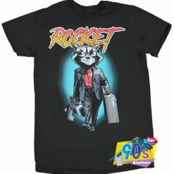 Comic Rocket Raccoon Suited Up T shirt