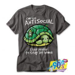I'm Not Antisocial Turtle T shirt
