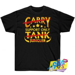 Star Support Only Text T shirt