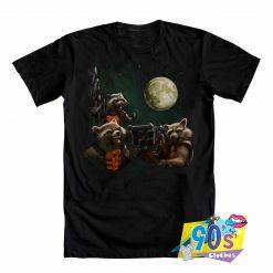 The Galaxy Rocket Raccoon Moon T shirt
