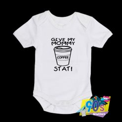 Give My Mommy Coffee Baby Onesie