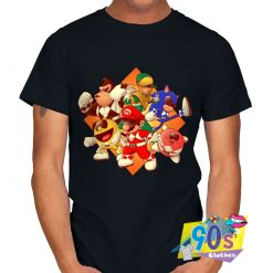 Mighty Gaming Rangers Mario And Friends T shirt