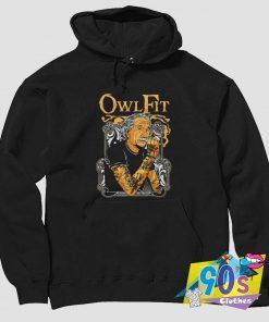 Tattooed Albert Einstein Owl Fit Hoodie