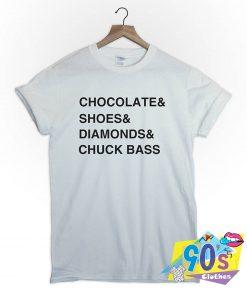 Chocolate Shoes Diamonds Chuck Bass Tumblr T Shirt
