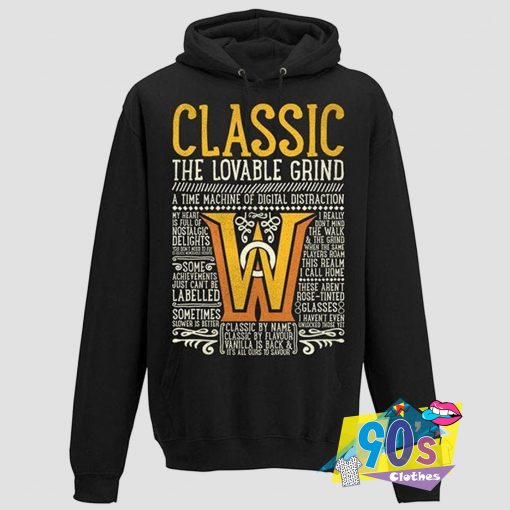 Classic The Lovable Grind Warcraft Hoodie