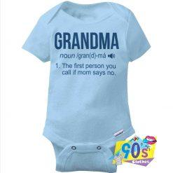 Cute Love Grandma BAby Onesie