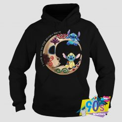 Cute Love The Moon Back Lilo and Stitch Hoodie