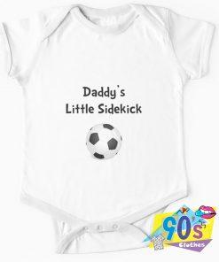 Daddy's Sidekick Soccer Baby Onesie