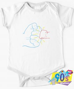 Daddy and Baby Boom Baby Onesie