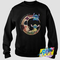 Funny Love The Moon Lilo and Stitch Sweatshirt