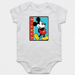 Funny Mickey Mouse Baby Onesie