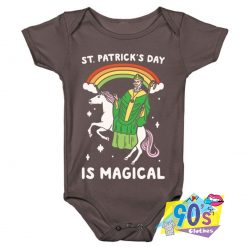 Funny St Patricks Day Is Magical Baby Onesie