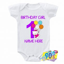 Hello Kitty Birthday Girl Baby Onesie