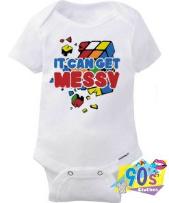 It Can Get Messy Broken Rubiks Baby Onesie