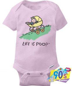 Life Is Poop Downhill Stroller Baby Onesie