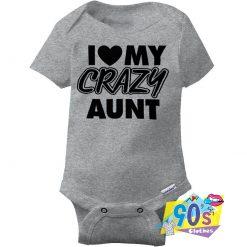 Love Crazy Aunt Gift Idea Baby Onesie