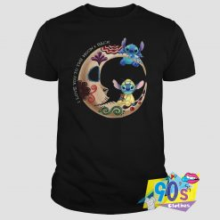 Love The Moon Lilo and Stitch T Shirt