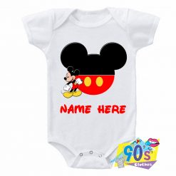Mickey Mouse Funny Character Baby Onesie
