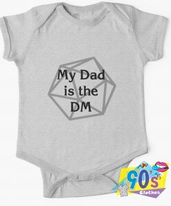 My Dad is the DM Baby Onesie