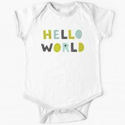 New Hello World Baby Onesie