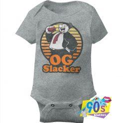 OG Slacker Retro Cartoon Wimpy Baby Onesie