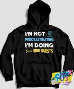 Procrastinating Doing Side Quests Warcraft Hoodie